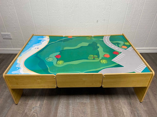 used KidKraft Wooden Train Activity Table