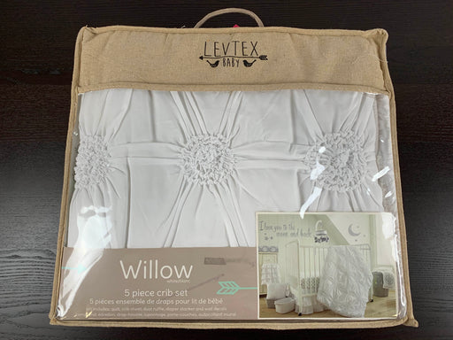 used Levtex Baby Willow Five Piece Crib Set
