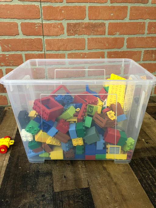 Lego Bricks Assortment with Bin