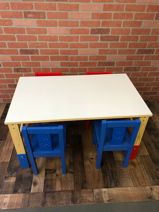 Ikea Large Art Table With 4 Chairs