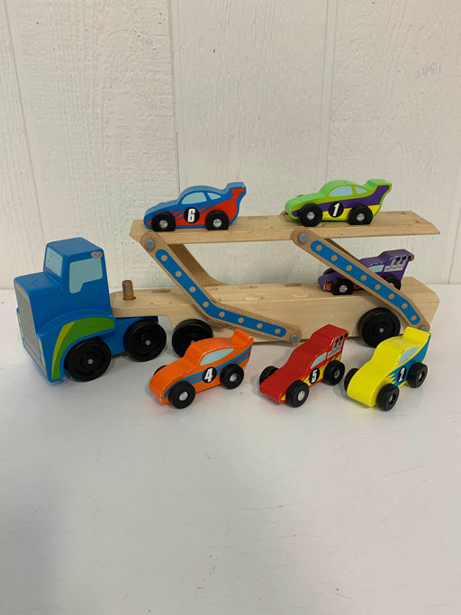 used Melissa & Doug Mega Race-Car Carrier