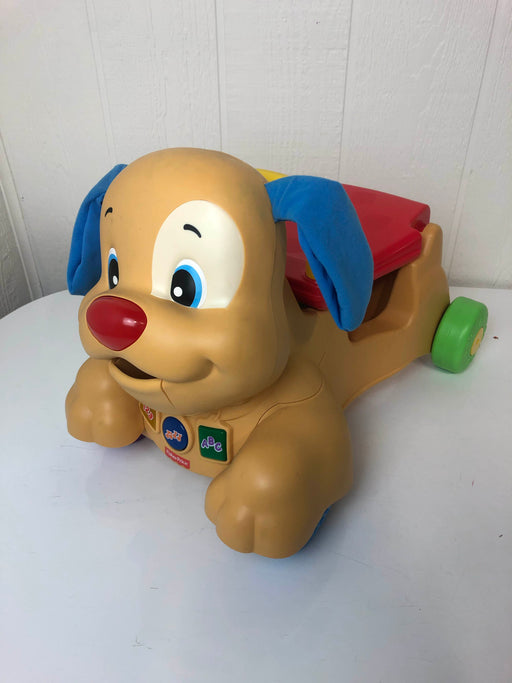 used Fisher Price Laugh And Learn Stride-To-Ride Puppy