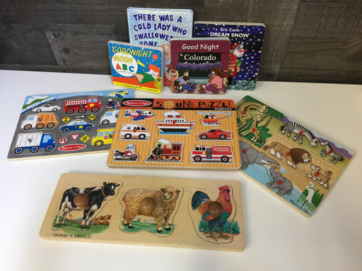 BUNDLE Toddler-Preschool Puzzles and Books