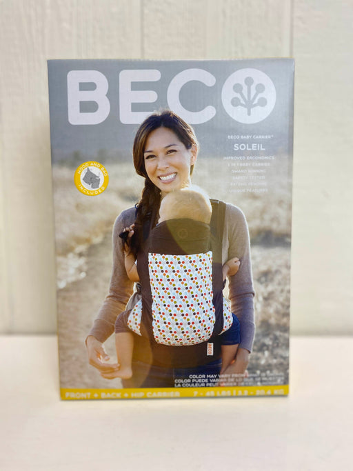 used Beco Soleil Baby Carrier Micah Espresso