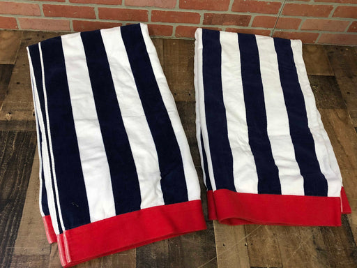 Pottery Barn Striped Beach Towels