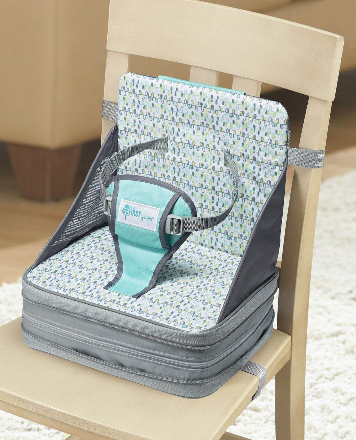 Baby Polar Gear Booster Cushion Grey Spot