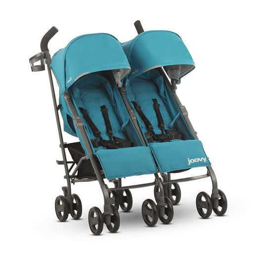 used Joovy TwinGroove Ultralight Double Stroller, 2018, Turquoise
