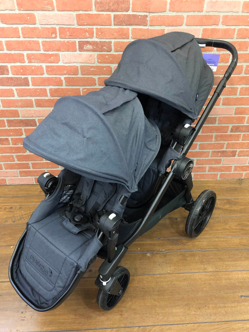 Baby Jogger City Select Lux Double Stroller, Granite, 2017