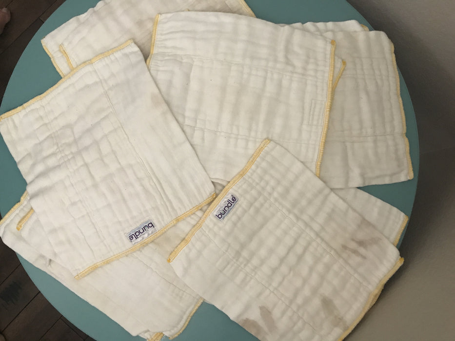 Bundle Cloth Diapers - Prefolds Size Small