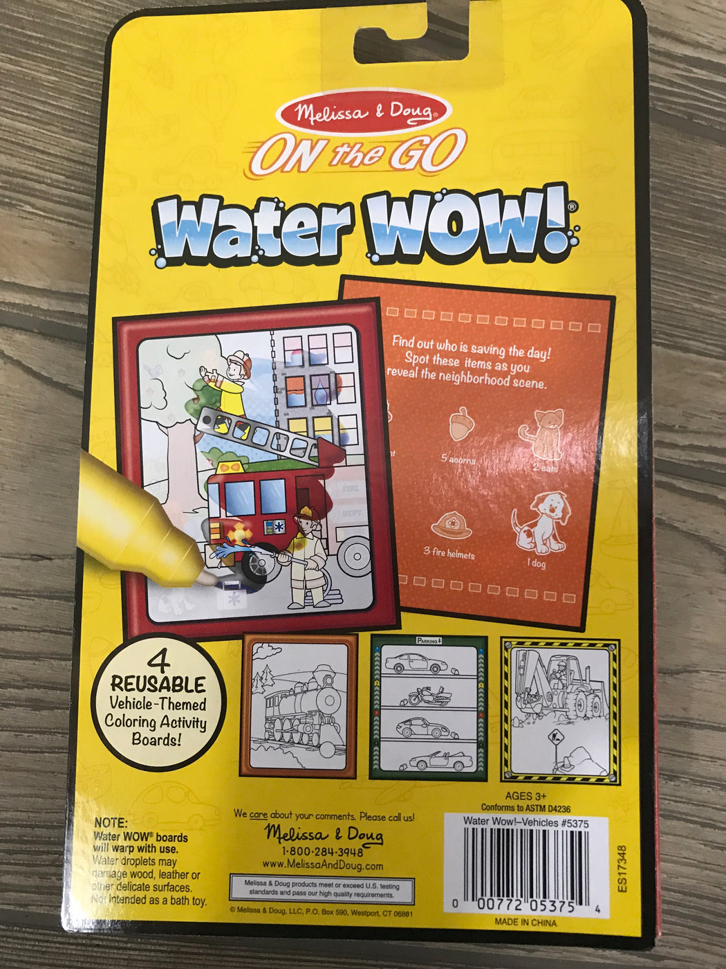 Melissa & Doug On The Go Water Reveal Pad