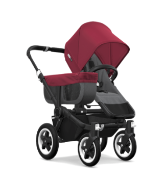 Bugaboo Donkey 2 Mono, Gray Red