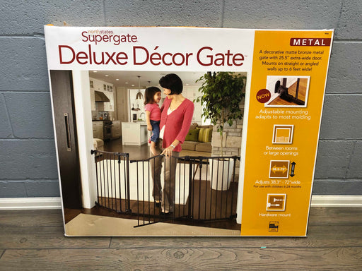 North States 72' Wide Deluxe Decor Baby Gate