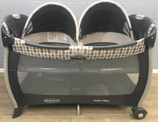 used Graco Pack 'n Play Playard With Twin Bassinets