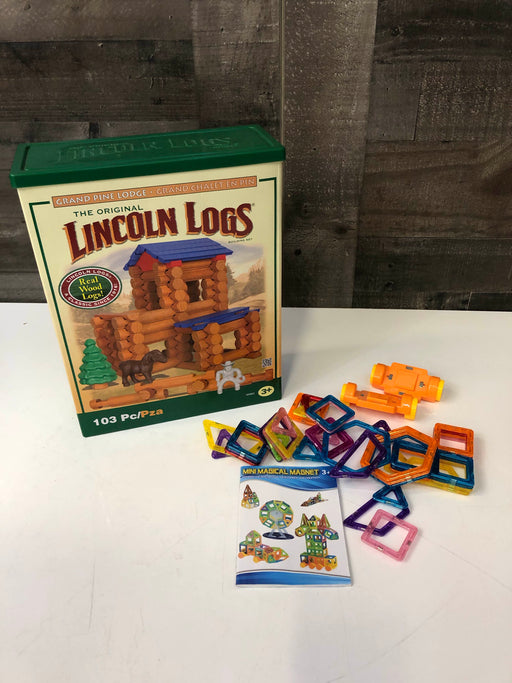 Lincoln Logs Grand Pine Lodge And Mini Magnet Set