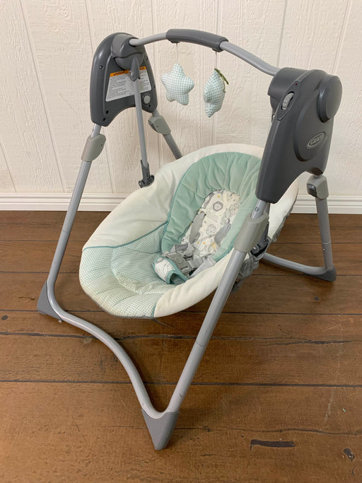 used Graco Slim Spaces Compact Baby Swing