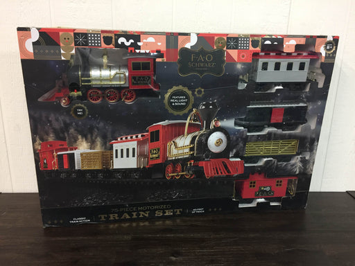 used FAO Schwarz 75-Piece Motorized Train Set