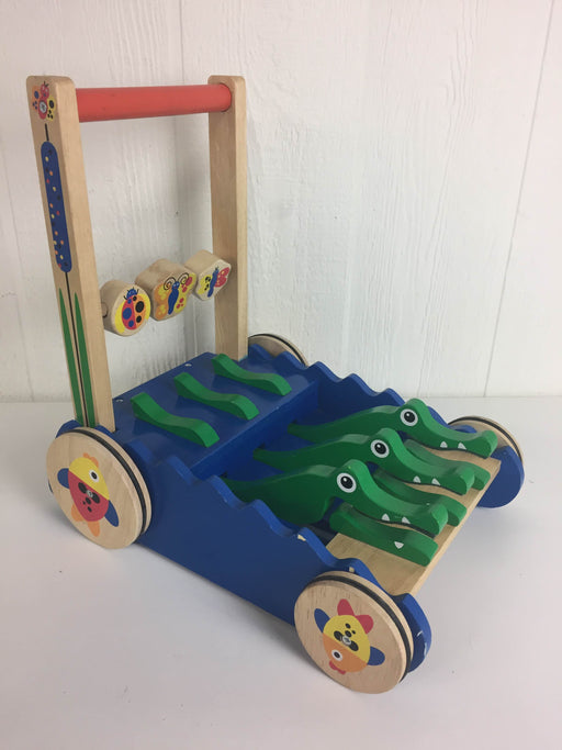 used Melissa & Doug Deluxe Chomp and Clack Alligator Wooden Push Toy And Activity Walker