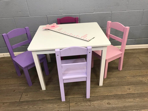 Tot Tutors Wood Table And 4 Chairs Set