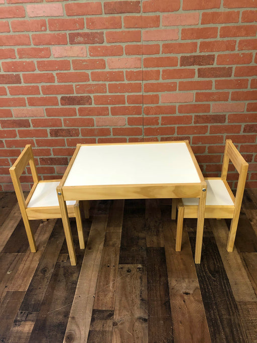 Ikea Wood Kid's Table and 2 Chairs