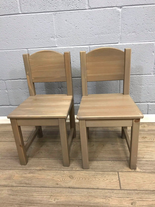 Wooden Child Sized Chairs (Set Of 2)