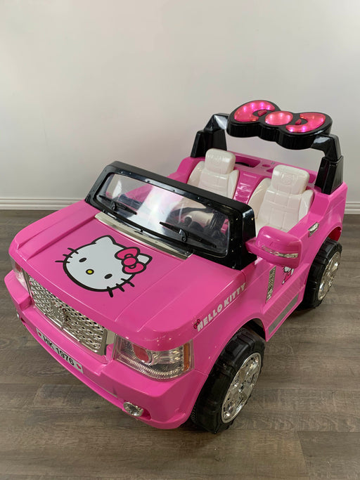 secondhand Hello Kitty 12V Light Up SUV Pink