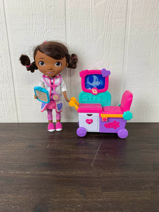 used Disney Doc McStuffins Magic Talking Doll & Care Cart