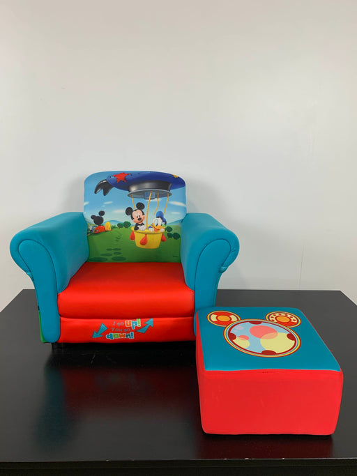 used Delta Children Mickey Mouse Upholstered Chair with Ottoman