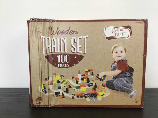 used EverEarth Wooden Train Set