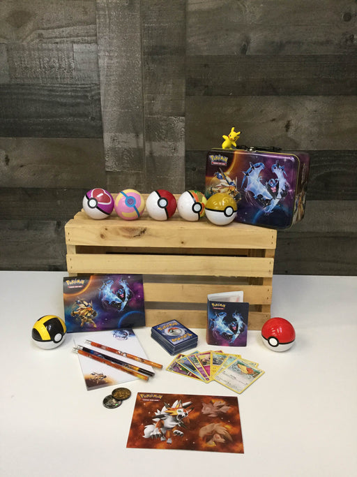 used 2018 Pokémon Trading Card Game Spring Collector's Chest Tin