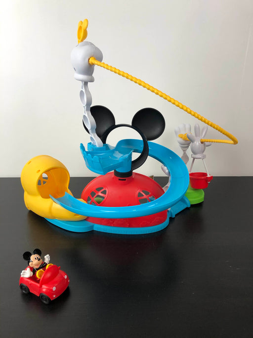 used Fisher Price Mickey Mouse Zip, Slide And Zoom Clubhouse