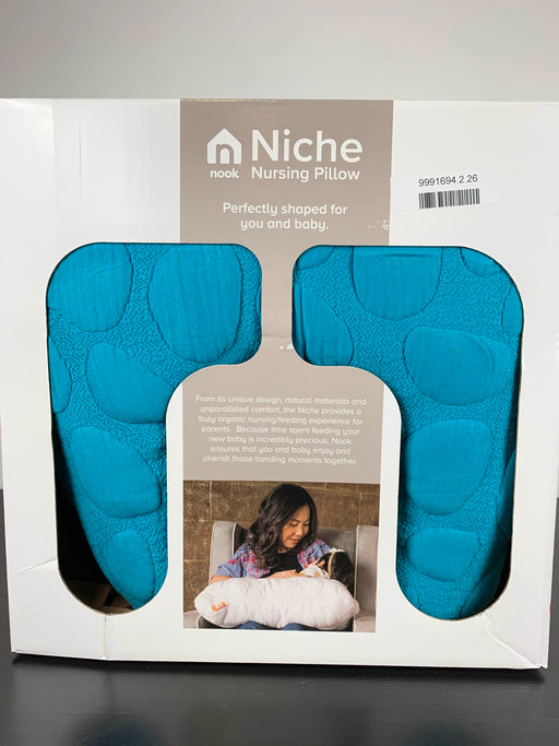 used Nook Niche Feeding Pillow, Peacock