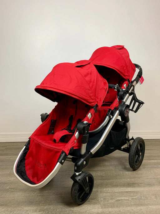used Baby Jogger City Select Double Stroller, Red
