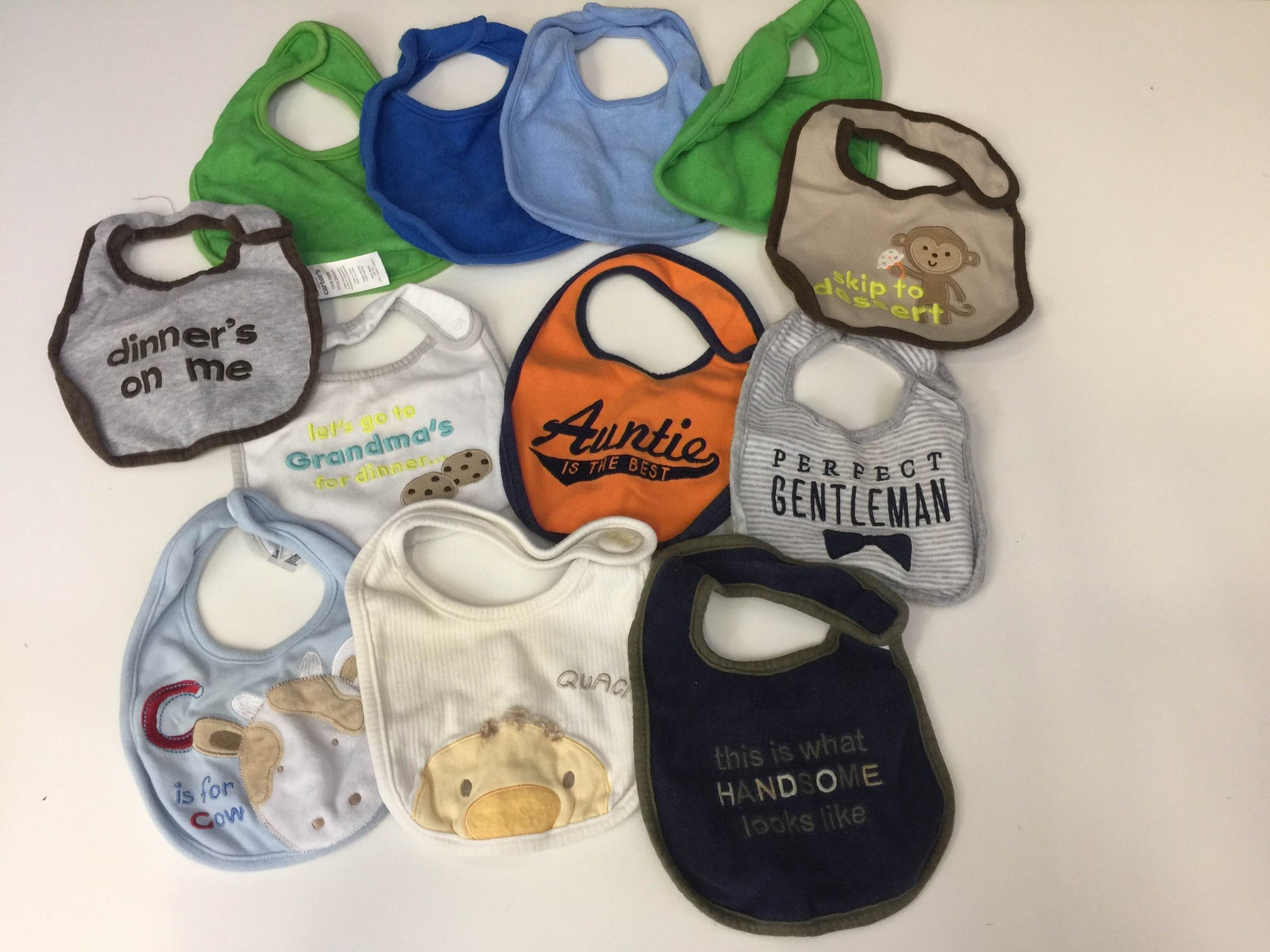 BUNDLE Baby Bibs and Changing Pad