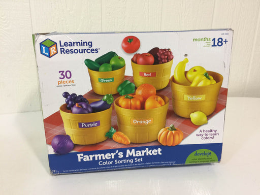 used Learning Resources Farmer's Market Color Sorting Set