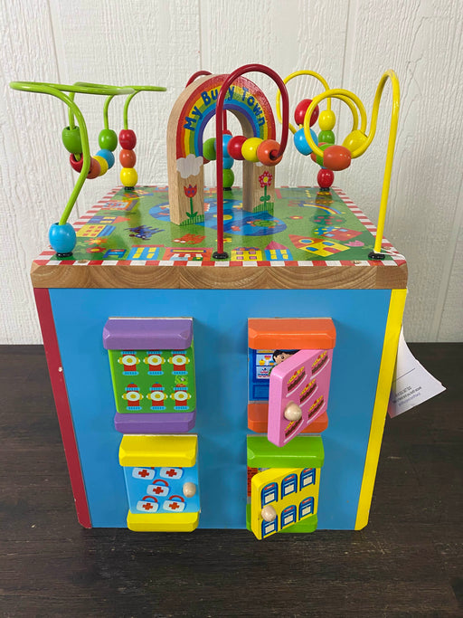 used ALEX Toys Discover My Busy Town Wooden Activity Cube