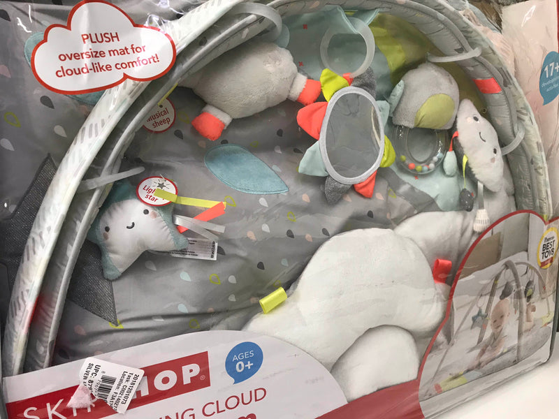 secondhand Skip Hop Activity Gym/ Playmat, Silver Lining Cloud