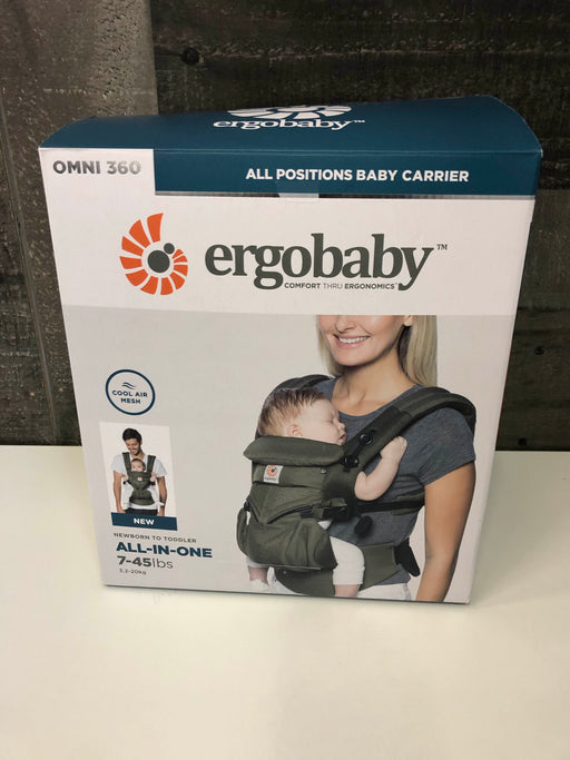 Ergobaby Omni 360 Ergonomic Cool Air Mesh Baby Carrier Khaki Green