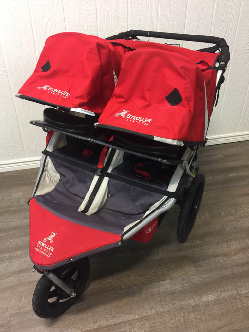 used BOB Strides Duallie Fitness Double Jogging Stroller, 2009