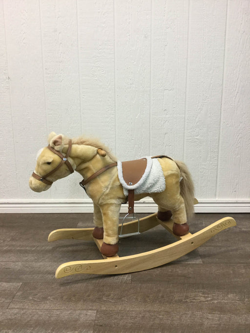used Chrisha Playful Plush Rocking Horse