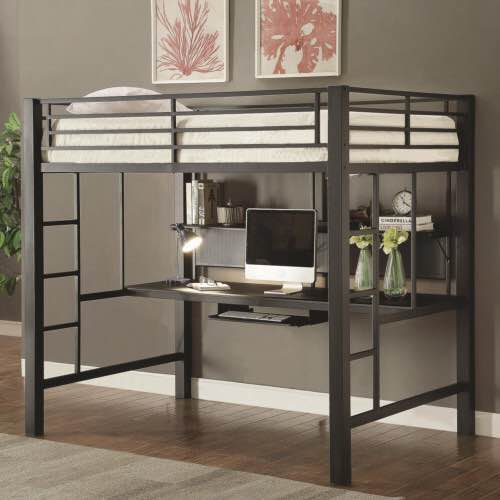 Coaster Fine Furniture Workstation Full Loft Bed