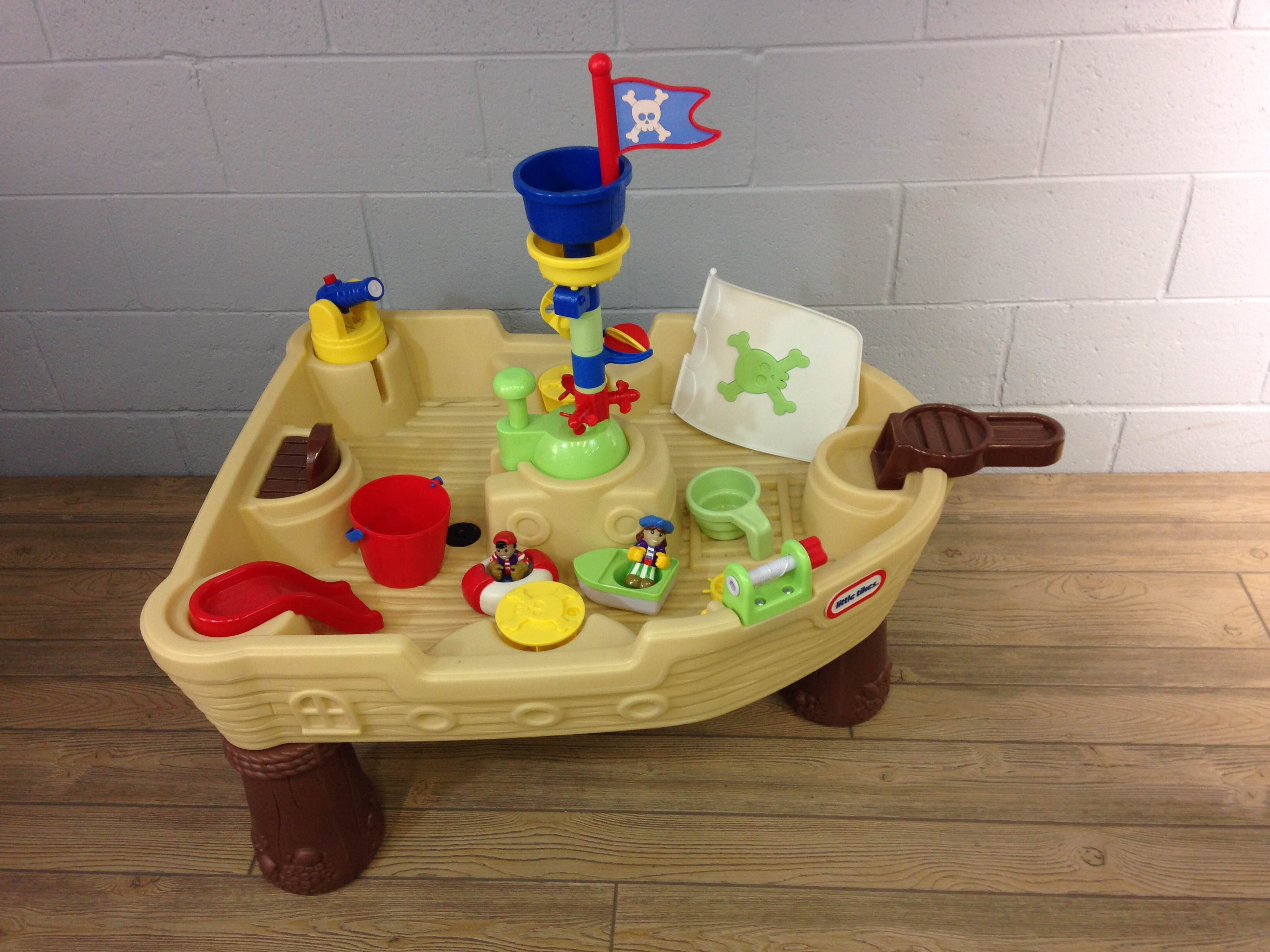 Little Tikes Anchors Away Pirate Ship Water Play Table Good Buy Gear - Picnic table anchors