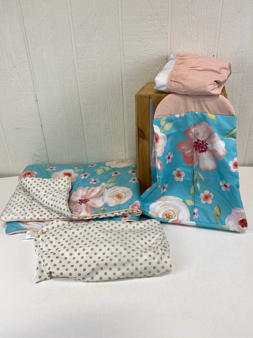 used Sweet Jojo Designs 4 Piece Crib Bedding Set