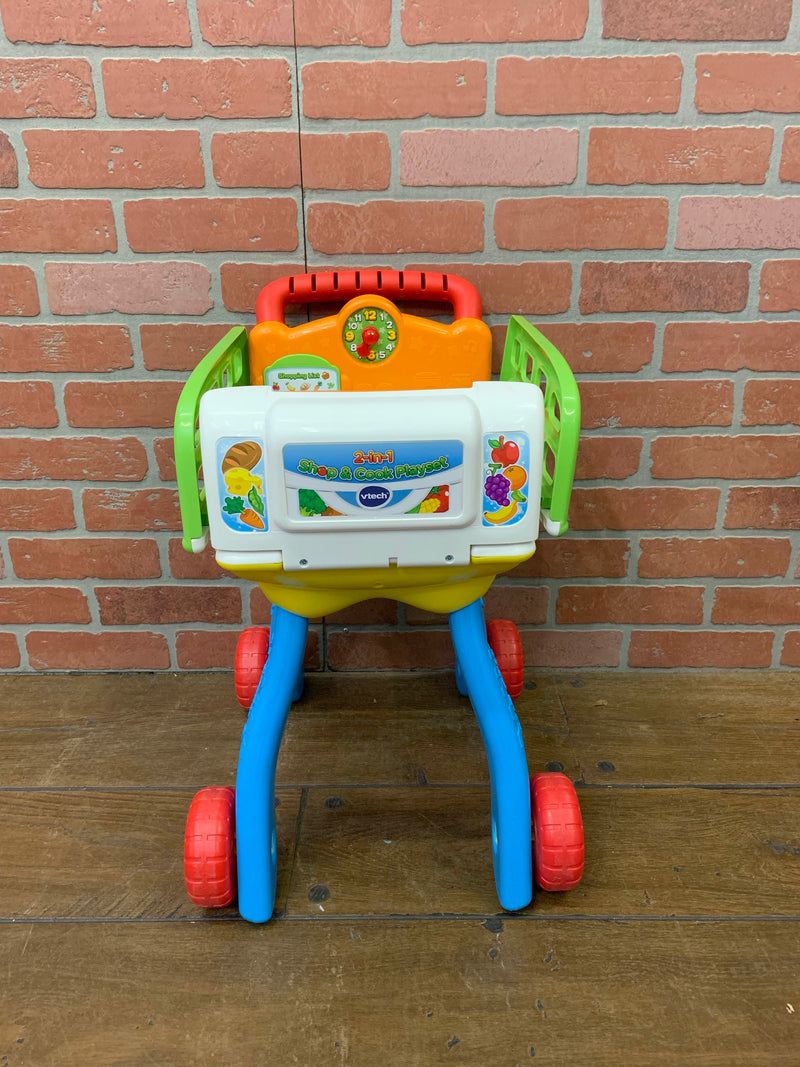used VTech 2 in 1 Shop and Cook Playset
