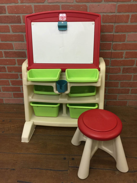 Awe Inspiring Step2 Flip Doodle Easel Desk With Stool Caraccident5 Cool Chair Designs And Ideas Caraccident5Info