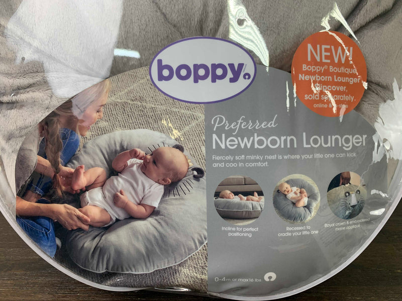 secondhand Boppy Newborn Lounger, Royal Lion