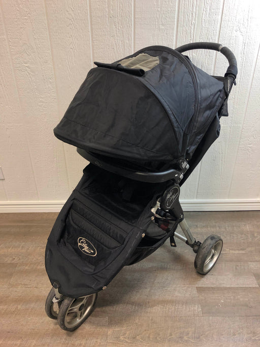 used Baby Jogger City Mini Single Stroller, 2010, Black/Gray