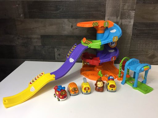 used VTech Go! Go! Smart Wheels Spinning Spiral Tower With Cars