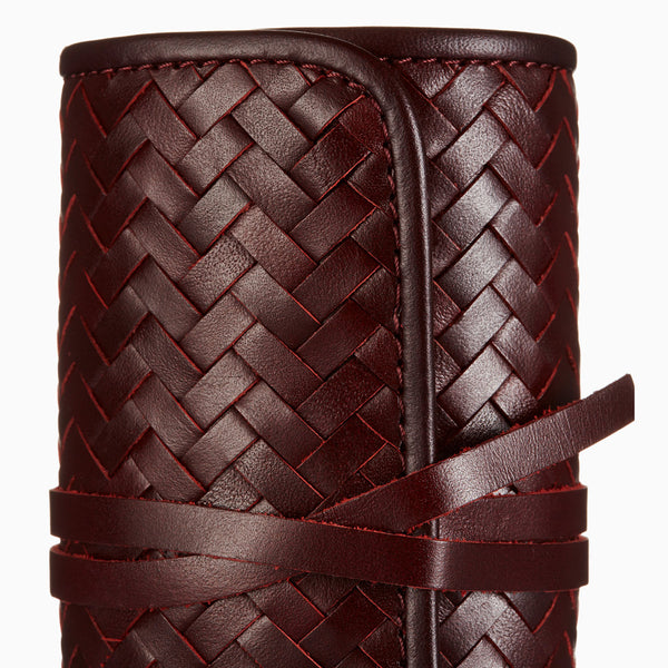 Herringbone Grooming Roll, Bordeaux Red