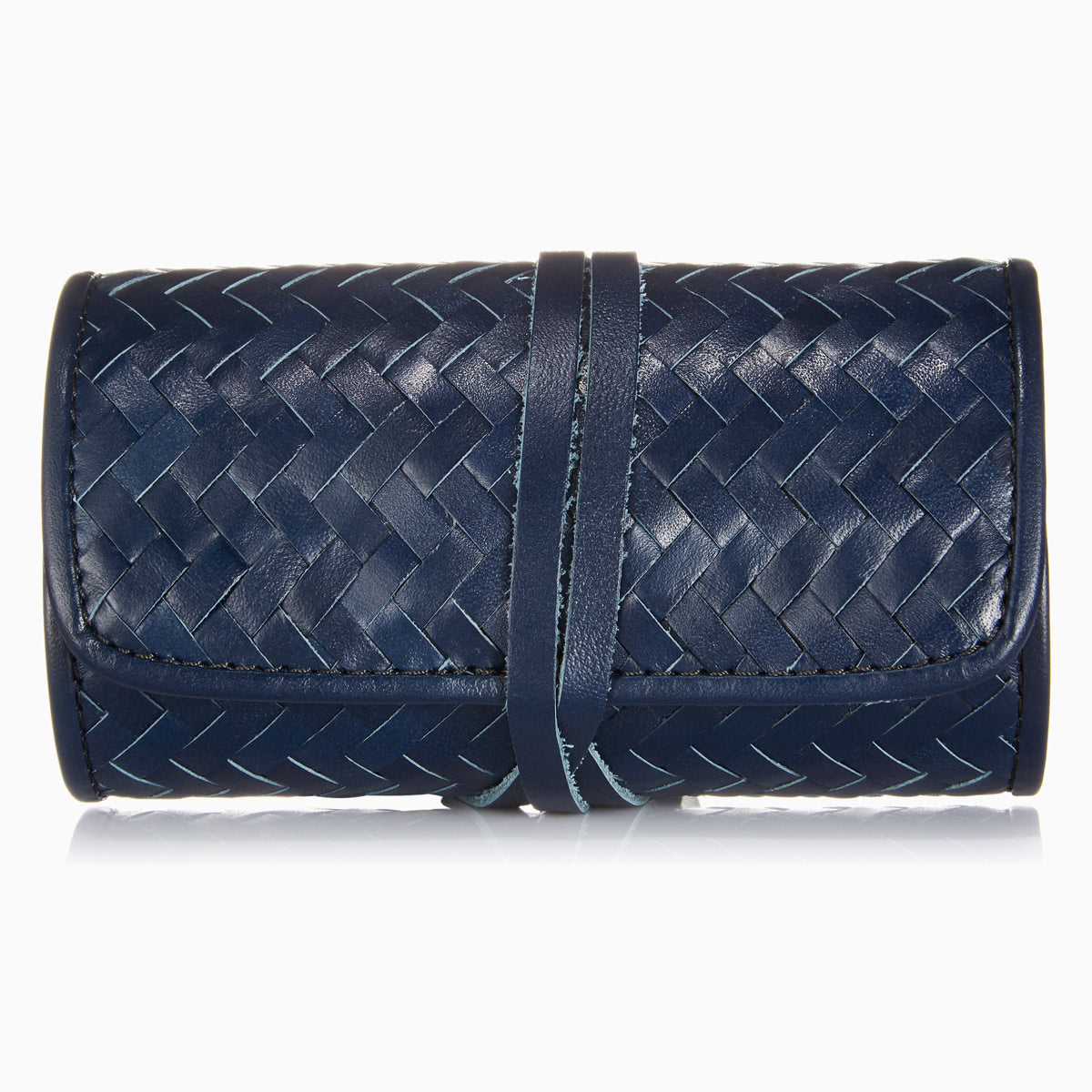 Herringbone Grooming Roll, Navy Blue: Men's Manicure Set