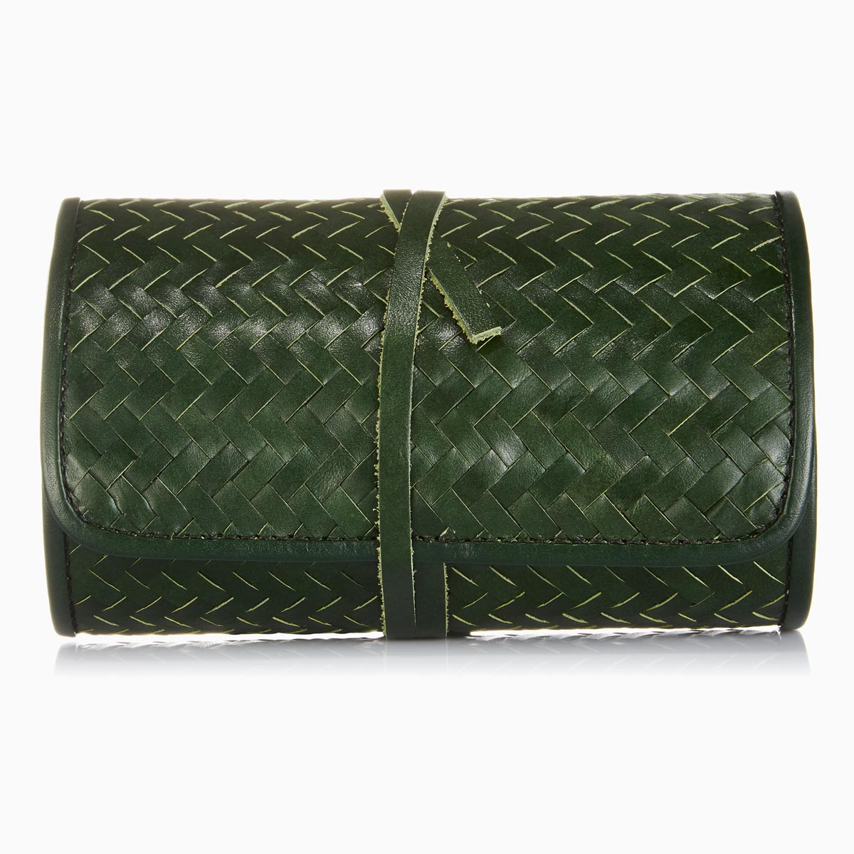 Herringbone TechRoll, Racing Green: Mobile Phone Accessories Kit + Power Bank